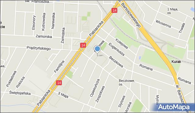 Łódź, Złocista, mapa Łodzi