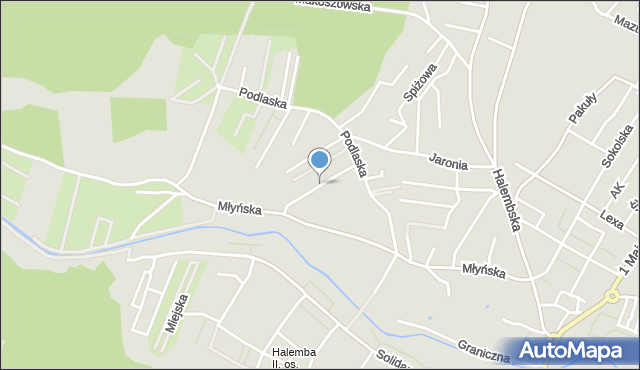 Ruda Śląska, Złota, mapa Rudy Śląskiej