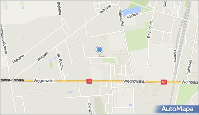 Sokołów Podlaski, Złota, mapa Sokołów Podlaski