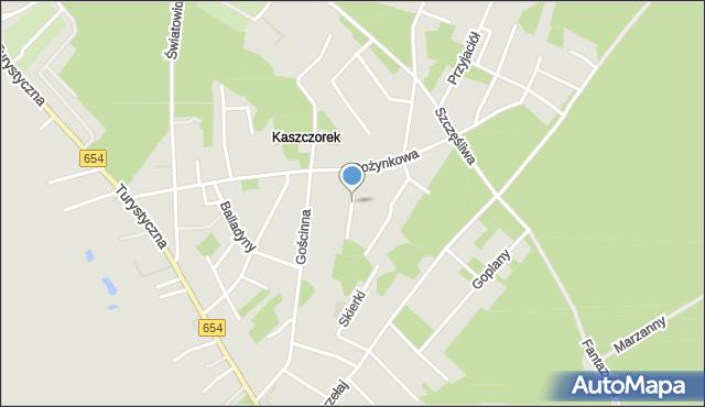 Toruń, Złotej Rybki, mapa Torunia