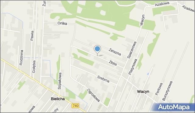 Wacyn, Złota, mapa Wacyn