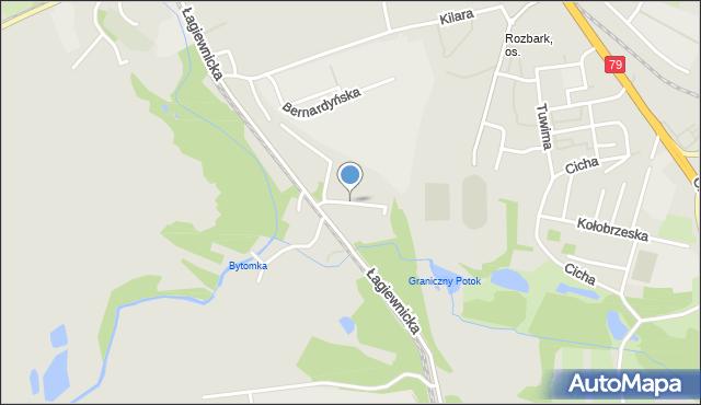 Bytom, Żółkiewskiego Stanisława, hetm., mapa Bytomia