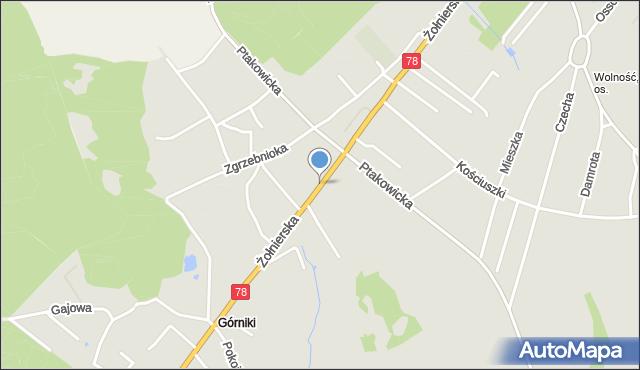 Bytom, Żołnierska, mapa Bytomia