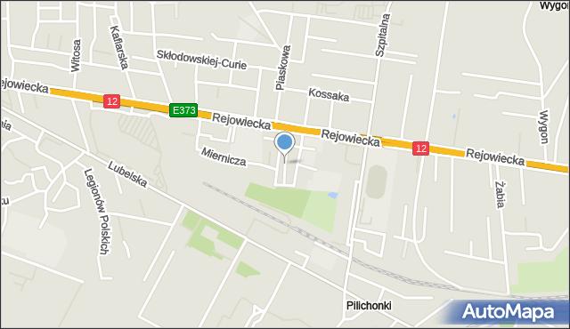 Chełm, Żołnierska, mapa Chełma