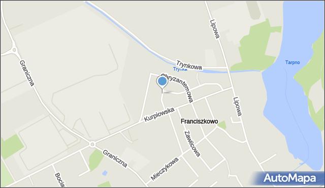 Grudziądz, Żonkilowa, mapa Grudziądza