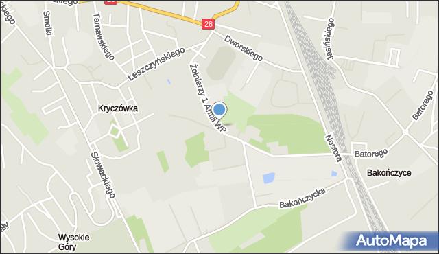 Przemyśl, Żołnierzy 1 Armii Wojska Polskiego, mapa Przemyśla
