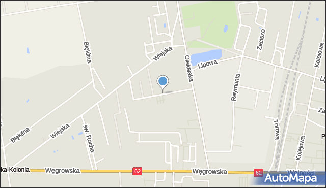 Sokołów Podlaski, Żołnierzy Niezłomnych, mapa Sokołów Podlaski