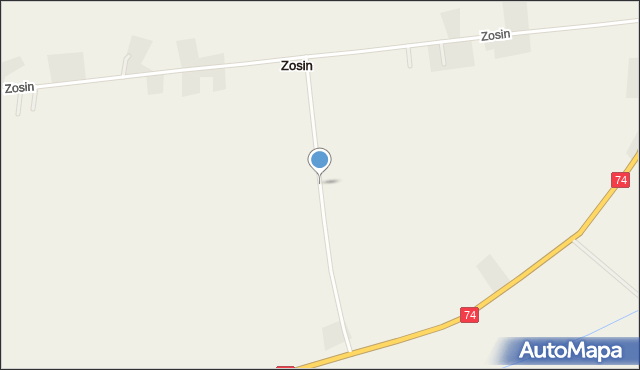 Zosin gmina Horodło, Zosin, mapa Zosin gmina Horodło