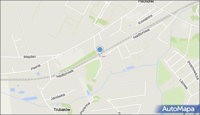 Chełm, Źródlana, mapa Chełma
