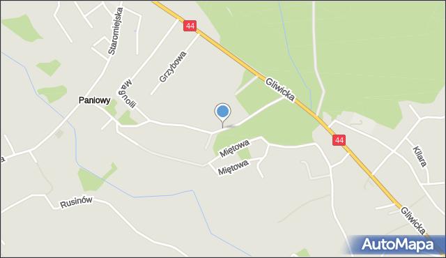 Mikołów, Zrębowa, mapa Mikołów