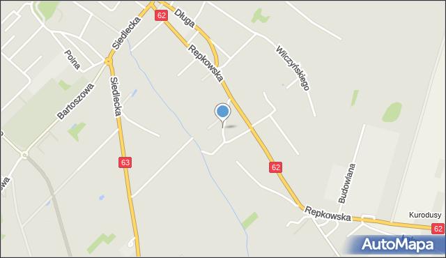 Sokołów Podlaski, Źródlana, mapa Sokołów Podlaski