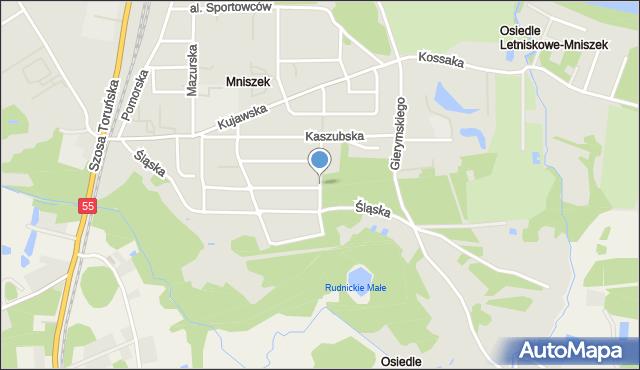 Grudziądz, Żuławska, mapa Grudziądza