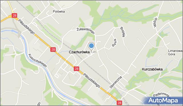 Limanowa, Żuławskiego, mapa Limanowa