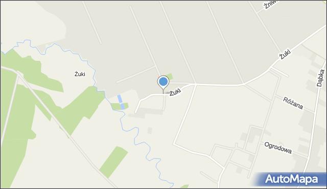 Lubaczów, Żuki, mapa Lubaczów