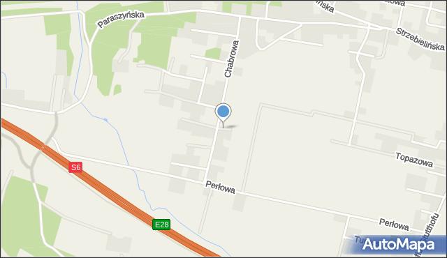 Luzino, Żurawinowa, mapa Luzino