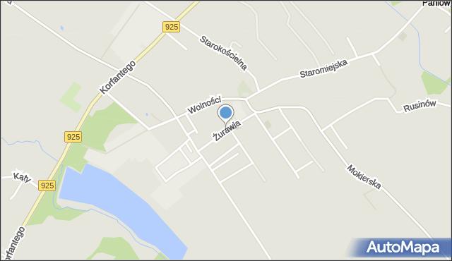 Mikołów, Żurawia, mapa Mikołów