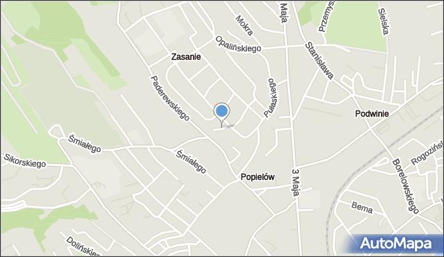 Przemyśl, Żulińskiego Romana, mapa Przemyśla