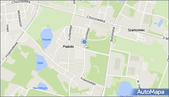Świętochłowice, Zubrzyckiego Juliana, mapa Świętochłowice