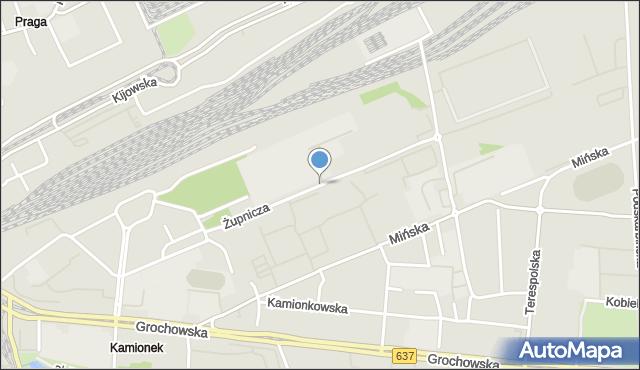 Warszawa, Żupnicza, mapa Warszawy
