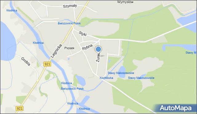 Zabrze, Żurawia, mapa Zabrza