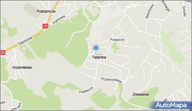 Przemyśl, Żwirowa, mapa Przemyśla