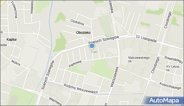 Radom, Żwirowa, mapa Radomia