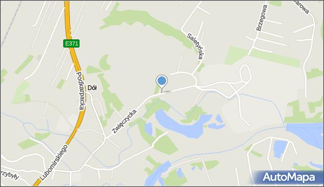 Rzeszów, Zwięczycka, mapa Rzeszów