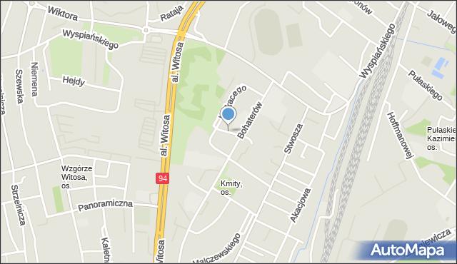 Rzeszów, Zwolińskiego Tytusa, mapa Rzeszów