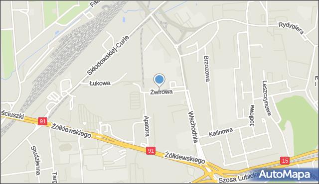 Toruń, Żwirowa, mapa Torunia
