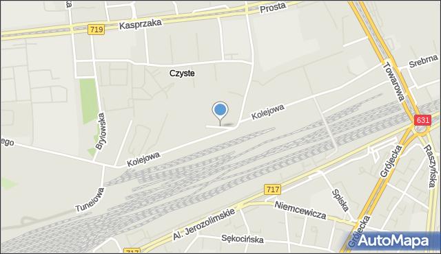 Warszawa, Zwrotnicza, mapa Warszawy
