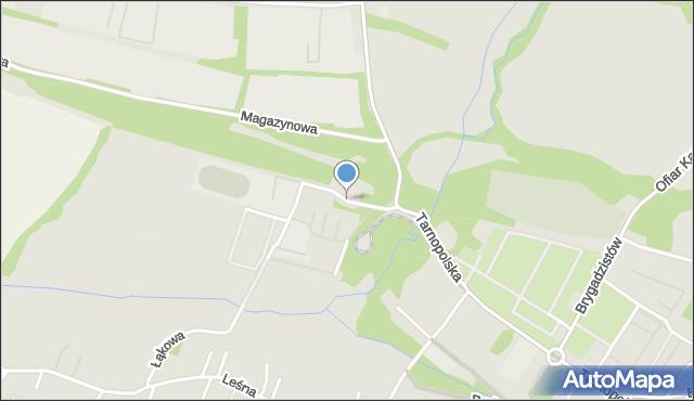 Zabrze, Zwrotnicza, mapa Zabrza