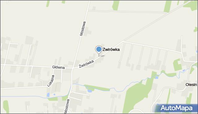Żwirówka, Żwirówka, mapa Żwirówka