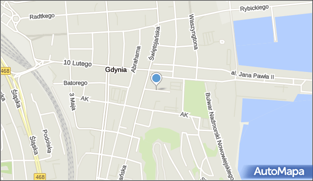 Gdynia, Zygmuntowska, mapa Gdyni