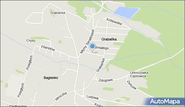 Jaworzno, Zygmunta Augusta, mapa Jaworzno