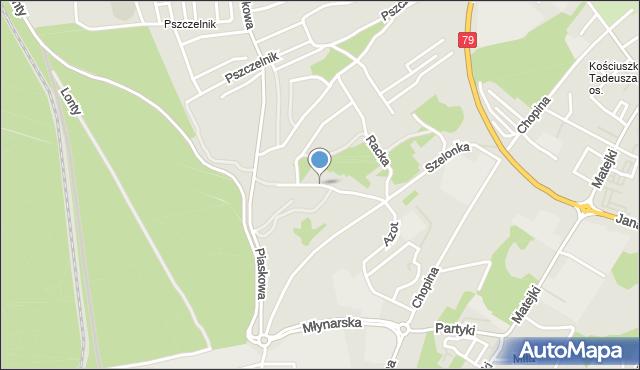 Jaworzno, Żywiczna, mapa Jaworzno