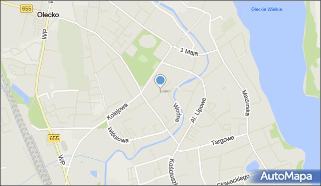 Olecko, Zyndrama, mapa Olecko