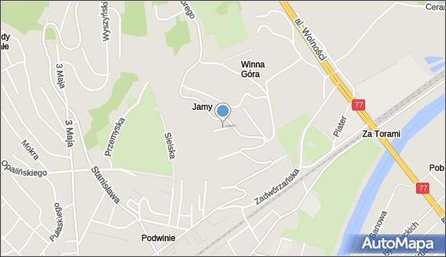 Przemyśl, Zygmuntowska, mapa Przemyśla