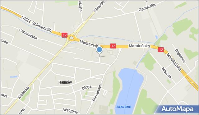 Radom, Żywockiego Zygmunta, mapa Radomia