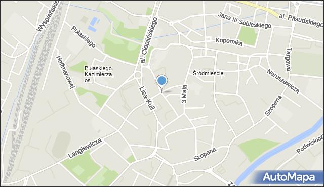 Rzeszów, Zygmuntowska, mapa Rzeszów