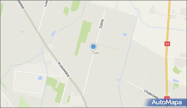 Sokołów Podlaski, Żytnia, mapa Sokołów Podlaski