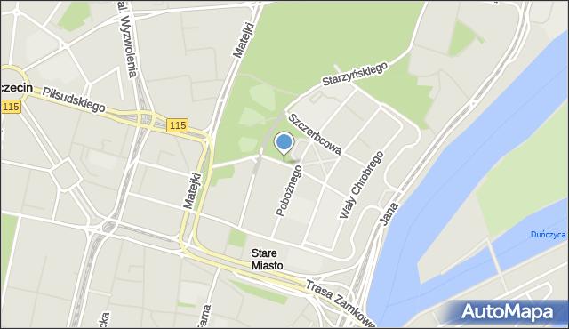 Szczecin, Zygmunta Starego, mapa Szczecina