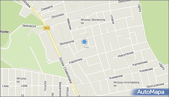 Toruń, Żytnia, mapa Torunia