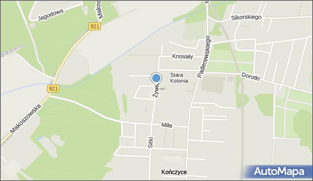 Zabrze, Żywiecka, mapa Zabrza