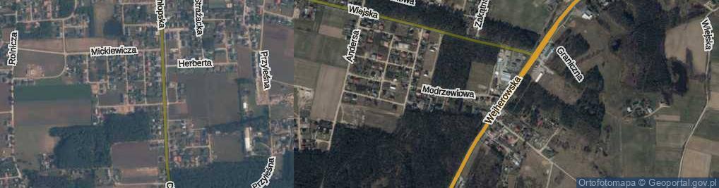 Zdjęcie satelitarne 11 Listopada ul.