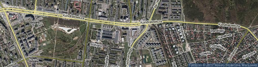 Zdjęcie satelitarne 20 Dywizji Piechoty Wojska Polskiego ul.
