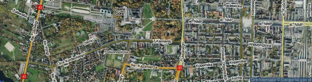 Zdjęcie satelitarne 7 Kamienic ul.