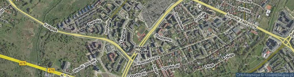 Zdjęcie satelitarne Aleja Konstytucji 3 Maja al.