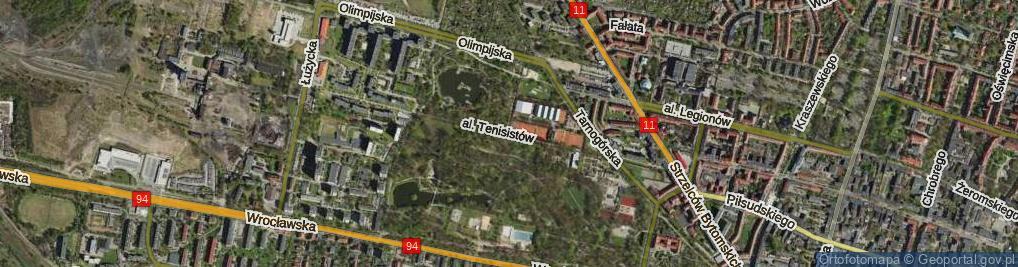 Zdjęcie satelitarne Aleja Tenisistów al.