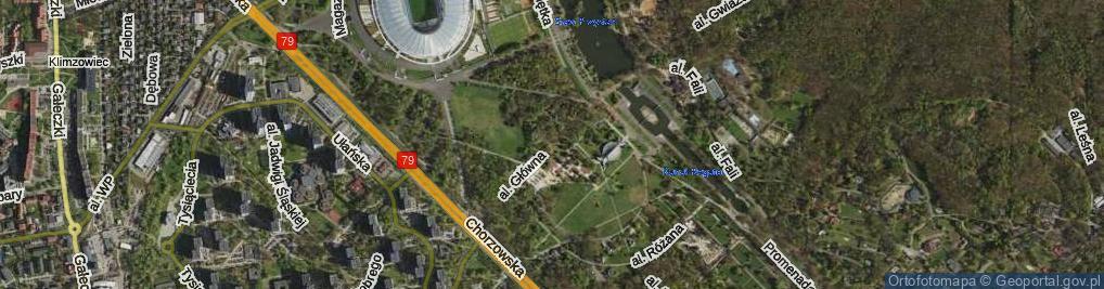 Zdjęcie satelitarne Aleja Główna al.