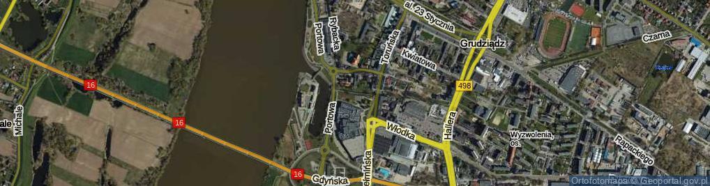 Zdjęcie satelitarne Aleja Maślankowskiego T., hm. al.